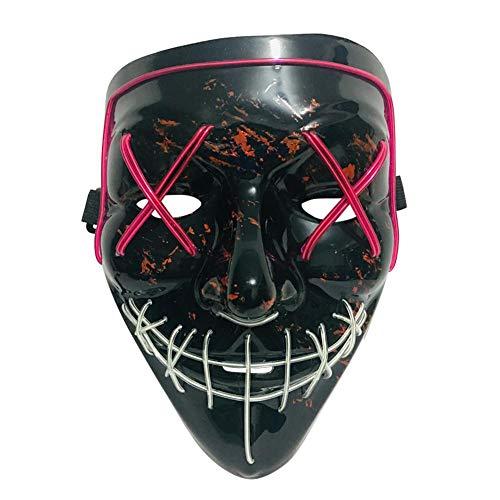 globalqi-homeland - Máscara de Halloween con iluminación LED para Disfraz de Halloween