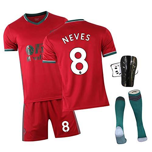 CWWAP Erwachsene und Kinder Fußball-Trikots # 37 Adama # 8 Neves # 7neto Fußball Training Uniform, Polyester Football Uniform Fußballausrüstung NO.8-24