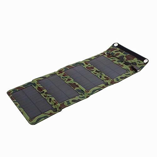 Cargador de panel solar impermeable para teléfono móvil portátil 7W cargador solar con USB de 5V para smartphones exteriores