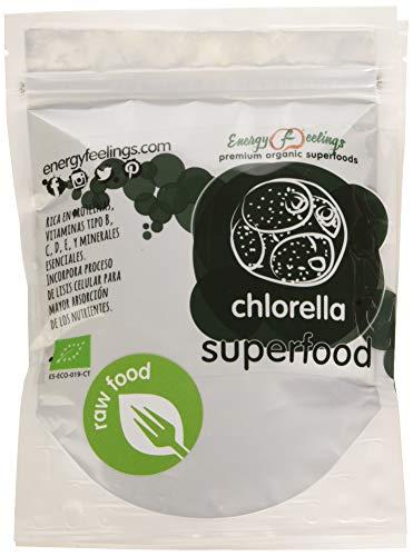 Energy Feelings Chlorella Polvo Eco Suplementos - 2 Paquetes de 100 gr - Total: 200 gr