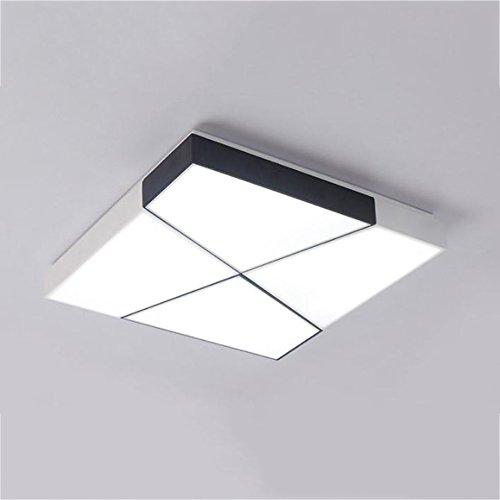 GPZ-iluminación de techo Luz de techo LED, Panel de iluminación moderno Salón Luz cuadrada Dormitorio Cocina Vestíbulo Montaje en superficie Montaje empotrado Escapar [Clase energética A ++]