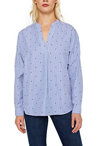 ESPRIT Damen 990EE1F310 Bluse, Blau (Navy 400), 36