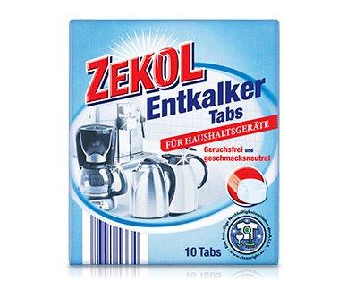 ZEKOL Entkalker TABS für Haushaltsgeräte Kaffeemaschinen Heißwasser-Geräte Wasserkocher