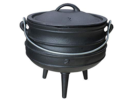 Grillmaster Gusseisen African Pot Potjie Dutch Oven Feuertopf Grill Lagerfeuer Topf 3 L