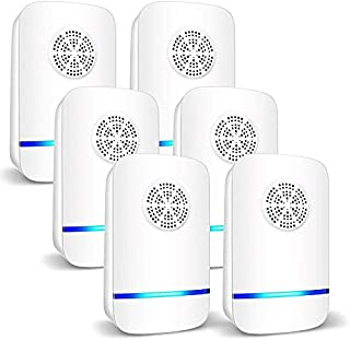 Fegishilly 6 Packs Ultrasonic Pest Repeller, Electronic Pest Repellent Plug in Indoor Pest Control for Insect, Roach, Mic...