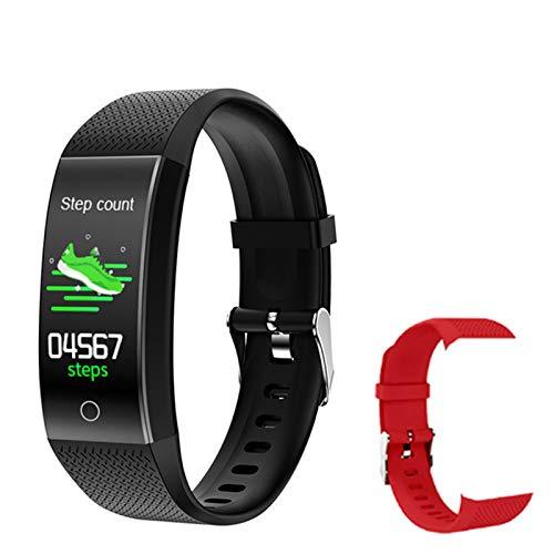 Termómetro QW18T Pulsera Inteligente IP68 Impermeable Tasa De Corazón Monitor De Sueño Portátil Wearable Fashion Watch Banda De Carga USB para iOS/Android,C