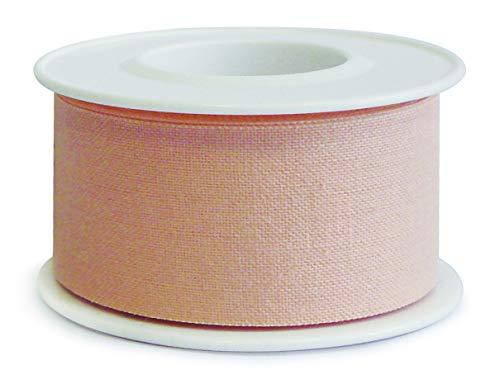 Euroreel (m 5 x cm 1,25) Esparadrapo de Tela con Adhesivo de óxido de Zinc,Altamente Hipoalergénico.