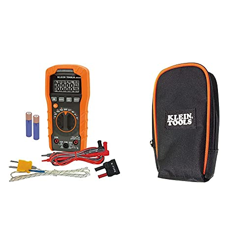 Klein Tools Digital Multimeter, Auto-Ranging, 600V MM400 & 69401 Multimeter Carrying Case