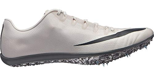 Nike Zoom 400 Track and Field Shoes (White/Grey, M9.5W11)