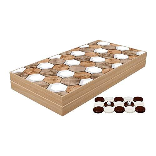 WYFX Juego de Backgammon clásico, Juegos de Mesa Familiares de Primera Calidad, Regalo para cumpleaños, año Nuevo, Mujer, Hombre, Amigo