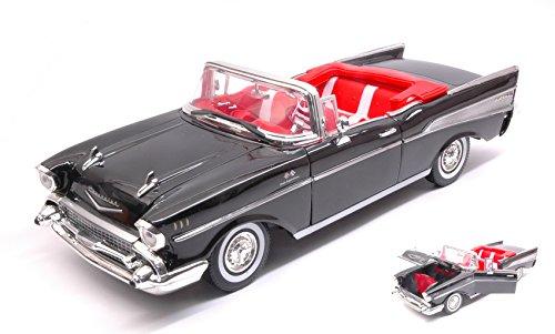 CHEVROLET BEL AIR CONVERTIBLE 1957 BLACK 1:18 - MotorMax - Auto Stradali - Die Cast - Modellino