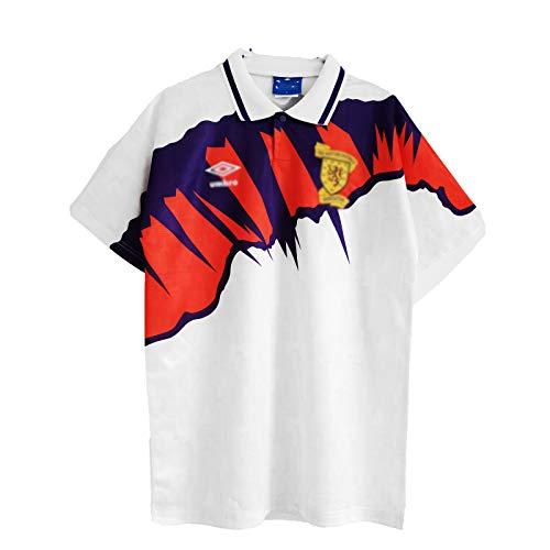 HSSE Scotland Escocia 1991-93 Away Football Polo Shirt, Uniforme De Fútbol Retro del Ejército De Tartán, Fútbol Adulto con Punta De Fútbol, Regalo Deportivo L