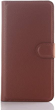Leather Slim Wallet Phone Case With Card Slots for HTC desire 728 -brown