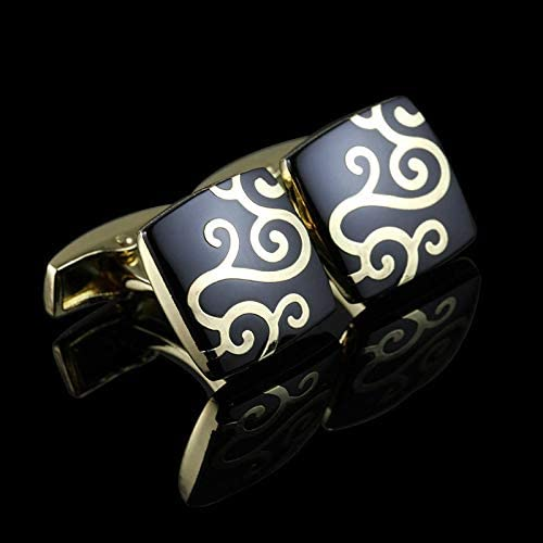 SuoSuo LZWJD French Shirt Cufflink for Mens Cuffs Link Button Male Gold Wedding (Color : 6)