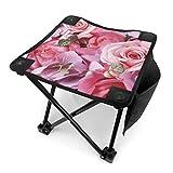 アウトドア 椅子 ローズ壁紙高品質 アウトドア 椅子 ピクニック 釣り コンパクト イス 持ち運び キャンプ用軽量 収納バッグ付き 折りたたみチェア レジャー 背もたれなし