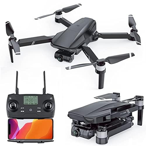 JJDSN Drone GPS para Adultos Drones con cámara cardán 4K de 2 Ejes, transmisión FPV 5G de Largo Alcance de 3280 pies Quadcopter Profesional sin escobillas, Tiempo de Vuelo de 25 Minutos, Retorno a