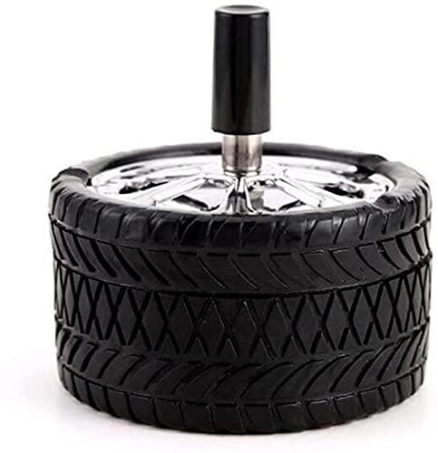 YYhkeby Tipo de neumáticos Rotación a Prueba de Viento Neumático Cenicero Presione Rotary Sello de Acero Inoxidable Sello Cenicero Negro Coche Cenicero Ashtray Press Jialele