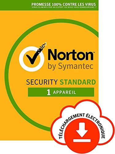 Norton Security Standard 2018 | 1 Appareil | PC/Mac/iOS/Android | Abonnement – Renouvellement Automatique