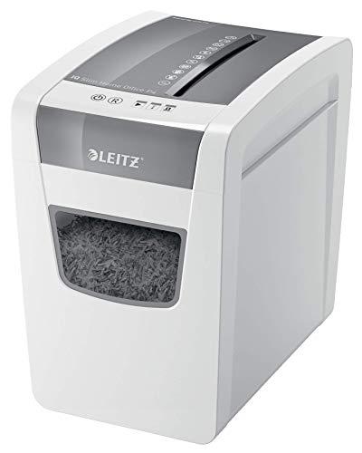 Leitz IQ SL Home Office Aktenvernichter, Partikelschnitt, Sicherheitsstufe P4, 10 Blatt Kapazität, 23L Abfallbehälter, Schredder, Weiß, 80010000
