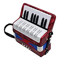 B Baosity 17キー 8ベース ピアノアコーディオン 楽器 全4色 - レッド