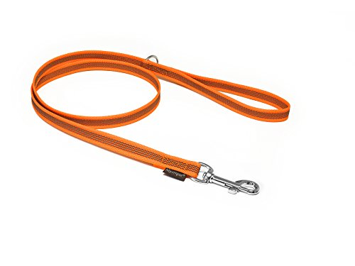 Mystique® Gummierte Leine 12mm mit Handschlaufe neon-orange (2m)
