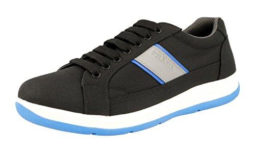 Prada Herren Blau Stoff Sneaker 4E2987 OQ6 F098P 41 EU / 7 UK