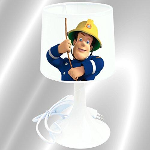 Lampe de chevet de création - Lampe à poser enfant - Sam le Pompier