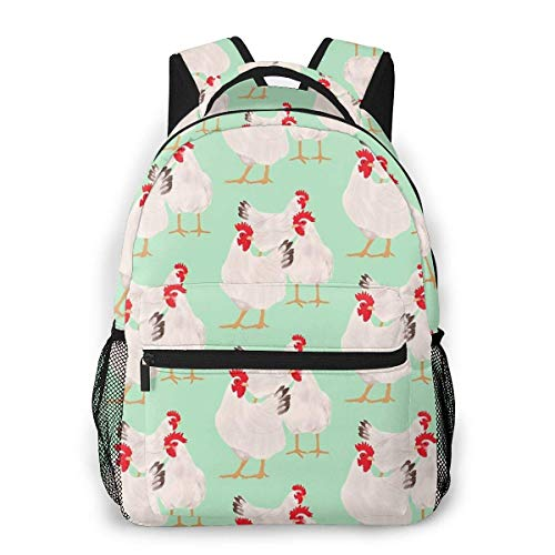 Chickens Causal Daypack Rucksack Vintage College School Bags Multipurpose Laptop Backpack for School/Business/Work/Men/Women