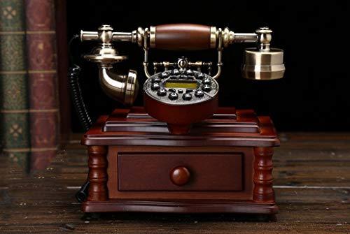 SXRDZ Teléfono Antiguo de Madera Maciza Estilo Europeo Rural Retro Avión de la casa Teléfono Fijo (Color: # 2) (Color : #1)