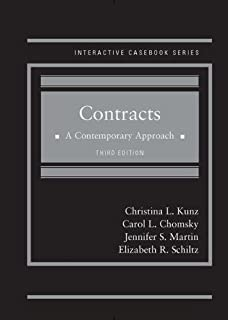 Contracts: A Contemporary Approach (Interactive Casebook Series)