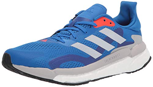 adidas Running Shoe, Zapatillas para Correr Hombre, Balón de fútbol Azul Plata Metalizado Solar Rojo, 40 EU