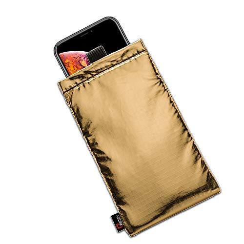 Phoozy Apollo Plus - Estuche térmico para teléfono inteligente iPhone, Samsung, Huawei, Xiaomi, funda con revestimiento suave, protege de temperaturas extremas, ayuda a ahorrar batería, dorado