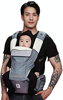 Pognae No.5 Plus All-in-One Baby Carrier, Denim Grey
