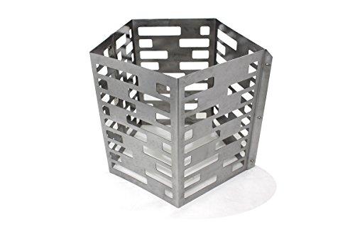 Feuerkorb für Premium Feuerschale 80cm im Turbinen-Design • Feuerkorb für den Garten • Feuerstelle als Grill • zerlegbar (Feuerkorb)