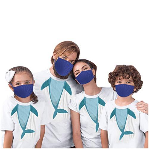 SHE.White--Kleid Mundschutz Waschbar Baumwolle Mund und Nasenschutz Premium Staubdicht Face Shields für Kinder Adults Multifunktionstuch Wiederverwendbar Familien Face Shields