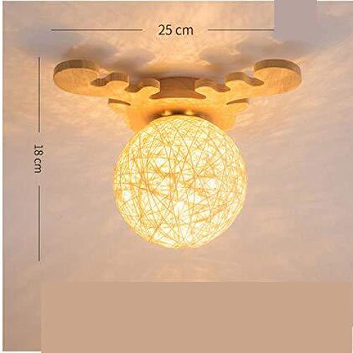 Plafondverlichting, plafondlamp, plafondlamp, plafondlamp, plafondlamp, plafondlamp, granman, Nordic huis, balkon, plafondlamp, eenvoudige houten kast, hal, entree, creatieve plafondlamp Wl3291342