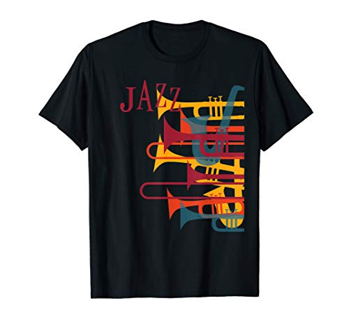 Jazz Musik Player T-Shirt Trompete Retro Vintage Shirt 70er
