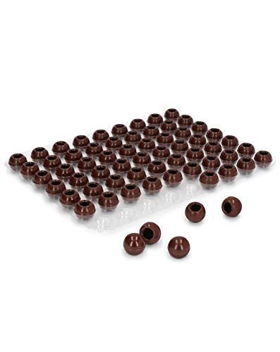 Pati-Versand Hohlkugeln Zartbitter | 1 Folie Pralinen-Kugeln zum Befüllen | je 63 Stück