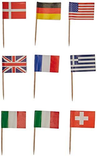 International Flag Picks (asstd designs) (50/Pkg)