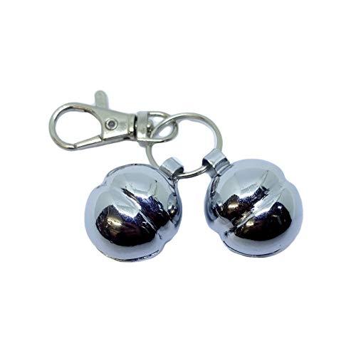 GB Falconry Qualität Lahore Glocken Größe 9 für Hunde & Katzen (Komplett mit Hummer-Haken & Spaltring) Paare