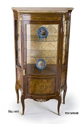 Casa Padrino Barock Vitrine 95 x 48 x H. 169 cm - Barock Möbel