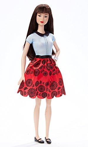 Barbie Fashionistas - Muñeca, Floral Rojo rubí (Mattel