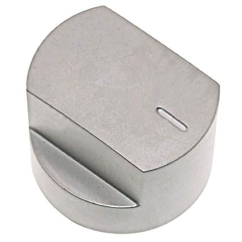 SPARES2GO Bouton Contrôle Interrupteur & Tige pour Stoves 61EDO 61EHDO BL ST WF Plaque Four Cuisinière Table de cuisson (Argent)