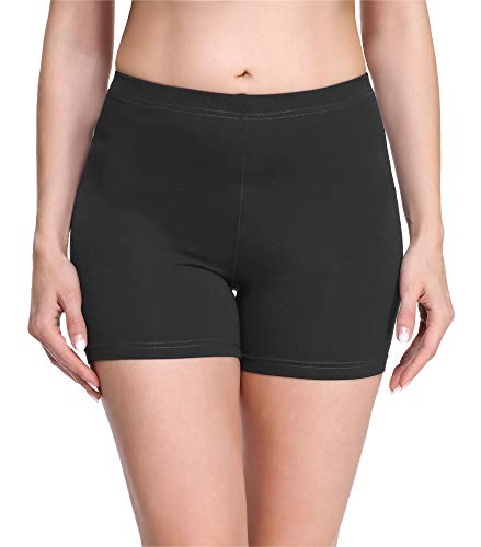 Merry Style Damen Shorts Radlerhose Unterhose Hotpants Kurze Hose Boxershorts aus Viskose MS10-283(Graphite,XXL)