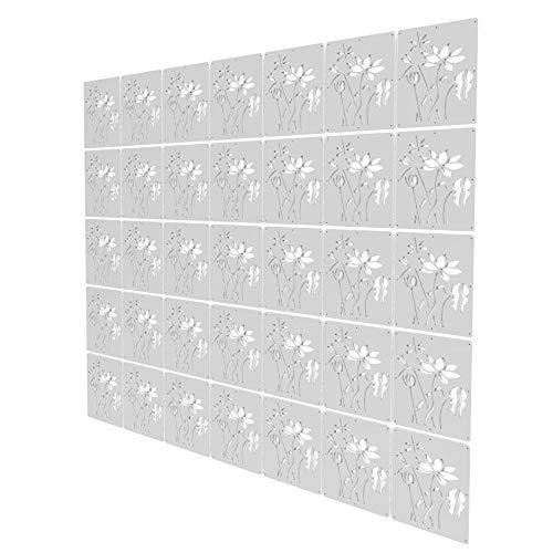 Biombo Separador Oficina de 35 Piezas - 147x206cm - Blanco Separador Ambientes Interior Loto Panel Separador Ambientes para Estantes Y Escritorios