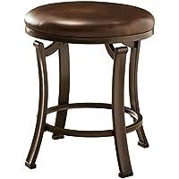 Hillsdale Furniture Hastings Backless Vanity Stool (Antique Brown)