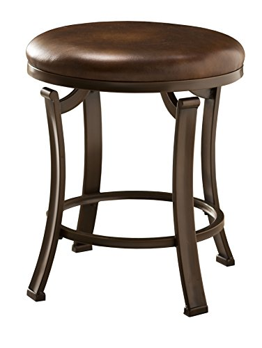 Save %48 Now! Hillsdale Furniture Hastings Backless Vanity Stool, Antique Brown