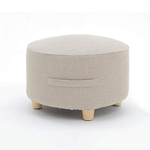 YILIAN Round Sofa Stool, Household Living Room Cushion Stool Sofa Stool, Footstool for Shoes (Color : A)