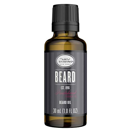 The Art of Shaving Beard Oil for Men - Shaving Oil to Tame & Moisturize Beard Hair, Leaves Healthy Shine & Non-Greasy Finish, Sandalwood, 1 Ounce