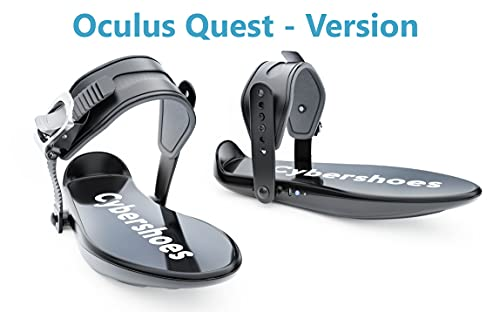 Cybershoes for Quest Standalone and SteamVR - Use with Your VR Headset for Walking or Running in VR Games. Experience the Power of Virtual Reality Gaming.